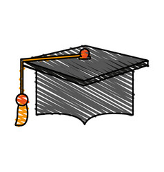Graduation hat education vector
