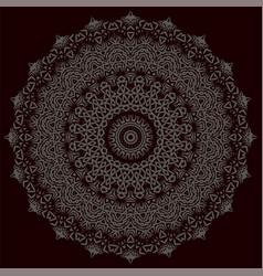 Grey oriental geometric ornament vector