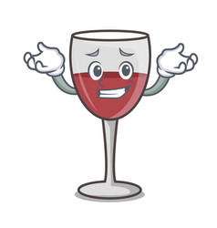 Grinning wine character cartoon style vector