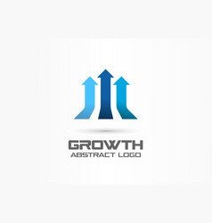 growth creative symbol concept leadership profit vector image