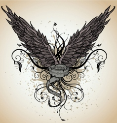 grunge wing vector image