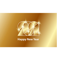 happy new year 2021 golden text design 2021 gold vector image