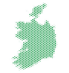 honeycomb ireland republic map vector image