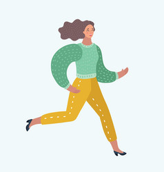 hurried women running vector image