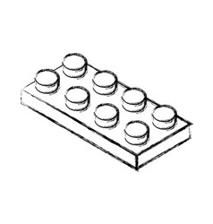 Isometric block game piece vector