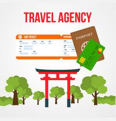 japan tour social media post template with text vector image