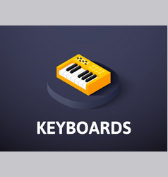 keyboards isometric icon isolated on color vector image