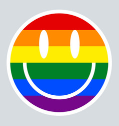 Pride Rainbow Face Emoji Vector Images (31)