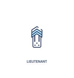 Lieutenant concept 2 colored icon simple line vector