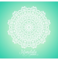 madala round ornament vector image