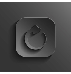 Media player icon - black app button vector