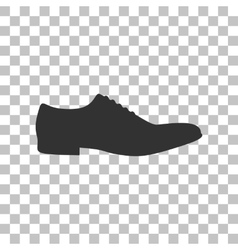 Men Shoes sign Dark gray icon on transparent vector