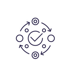 Methodology icon on white line vector