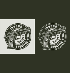 monochrome military round logo vector image