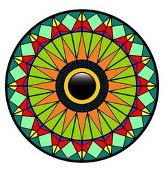 Mosaic eye vector image