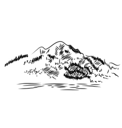 Mountain Landscape Hand drawn vector