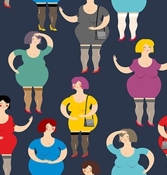 Night Prostitute seamless pattern Many women are vector image