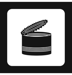 Open tin can icon simple style vector image