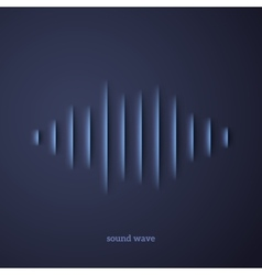 Paper sound waveform with shadow vector