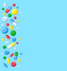 Pharmaceutical pills background medicine drugs vector