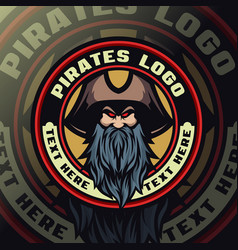 pirates mascot logo esport vector image