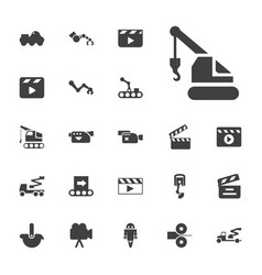 Production icons vector