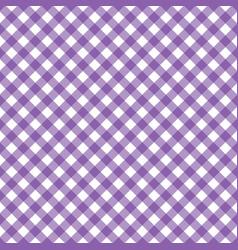 Purple white diagonal gingham cloth tablecloth vector