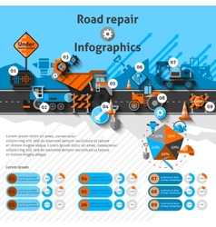 Road Repair Infographics vector