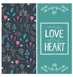 romantic card with love quote in square vector image