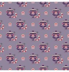 Russian tea pot symbol seamless pattern vector
