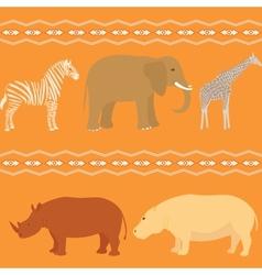 Seamless african pattern vector