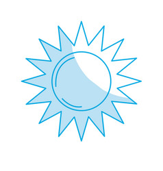 Silhouette sun light to sunny weather on vacation vector
