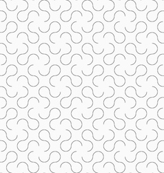 Slim gray omega like shapes vector image