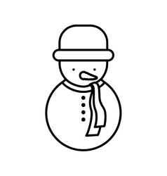Snowman silhouette with hat and coat vector
