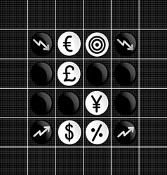 Stock market othello game vector