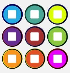 stop button vector image