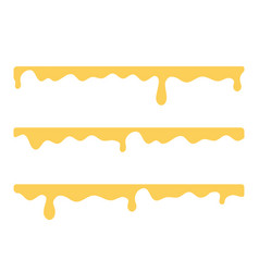 Streaks dripping honey flat isolated vector