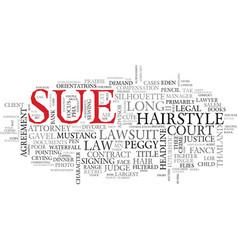Sue word cloud concept vector