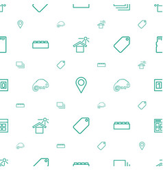 Template icons pattern seamless white background vector