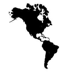 The americas silhouette vector