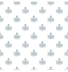 Tower old age pattern seamless vector