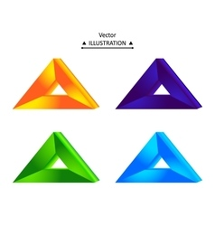 Triangular logo set vector
