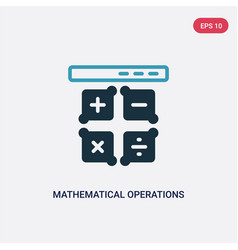 Two color mathematical operations icon from vector