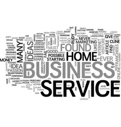 What me start a home business text word cloud vector