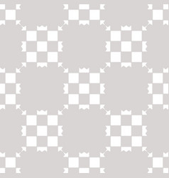 white and gray geometric checkered seamless vector image