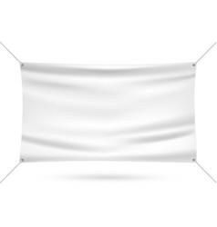 white mock up vinyl banner vector image
