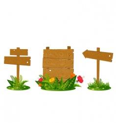 Wooden signposts vector