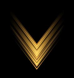 yellow light arrow speed direction on black vector image