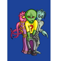 Aliens crew vector image vector image