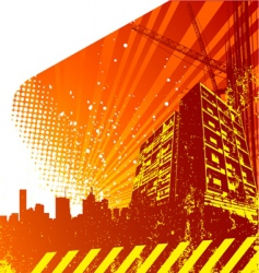 building silhouette vector image vector image